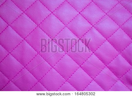 Pink leather diamond pattern. Can be used as background