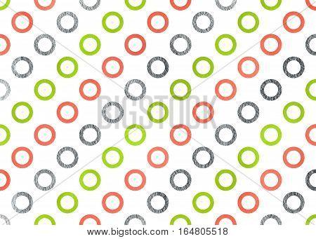 Watercolor Circles Pattern.