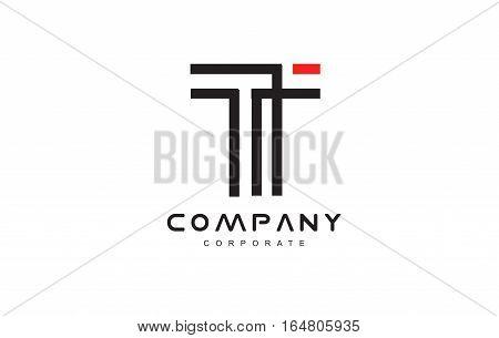 Alphabet line lineart t letter vector logo icon sign design template