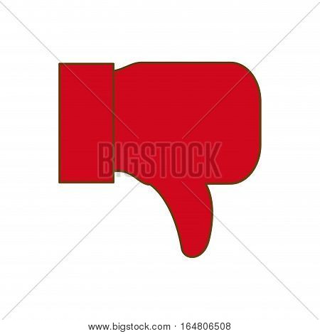 x reject or cancel hand gesture thumb down  icon image vector illustration design