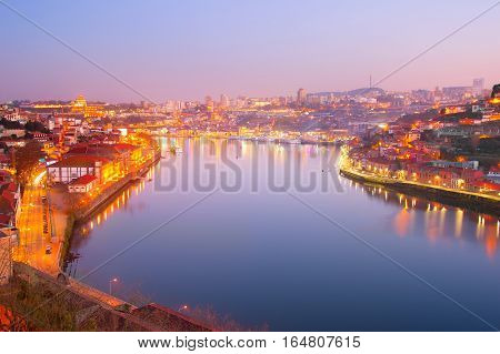 Beautiful Douro River. Porto, Portugal