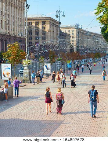 Kiev Downtown Street Life. Ukraine