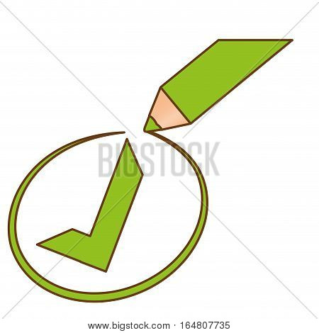 green check mark accept icon image vector illustration design
