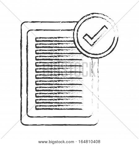 paper document with check mark  icon image vector illustration design