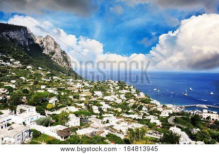 Hills of Amalfi coast landscape - Italy, Europe