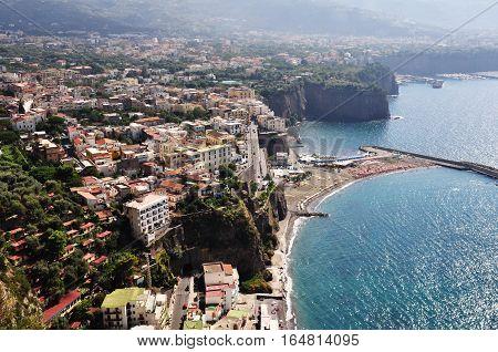 Amalfi seaside coast landscape in Italy, Europe