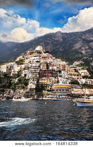 Mediterranean style architecture from Positano, Amalfi Coast