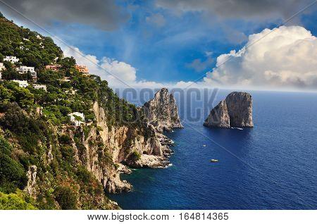 Seaside cliff in Sorrento, Amalfi Coast - Italy