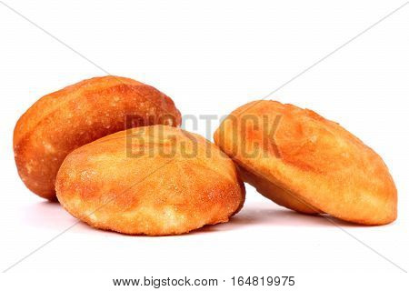 Three peremeches isolated over clear white background