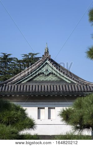 Guard Tower At Tokyo Imperial Palace In Tokyo