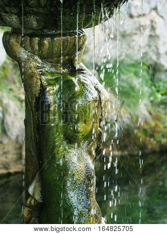 NIZHNEKAMSK REPUBLIC OF TATARSTAN RUSSIA - JUNE 2016: Detail of the fountain in a spring of the Holy Key. Place of pilgrimage for Christians and Muslims
