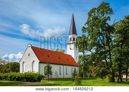 Lutheran Church Of St. Berthold In Sigulda, Latvia.
