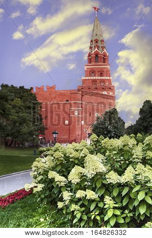 on landscaping inside and outside the Moscow Kremlin spent a lot of effort and money