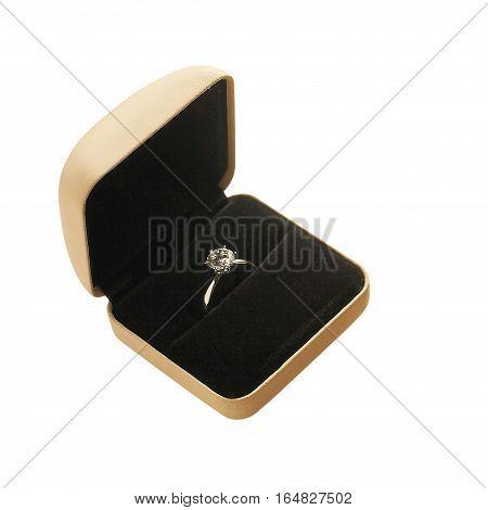 Ring case on white back ground for wedding