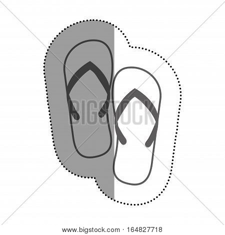 Sandals icon. Shoes fashion footwear beuty and beach theme. Isolated design. Vector illustration