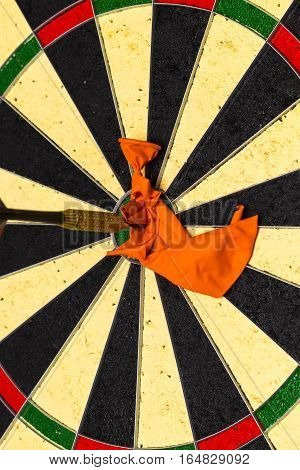 Dart A Dart Hits The Target And Breaks The Balloon