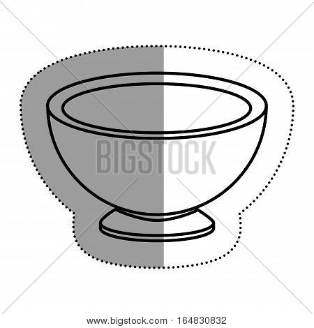 Bowl icon. Kitchen supply domestic and household theme. Isolated design. Vector illustration