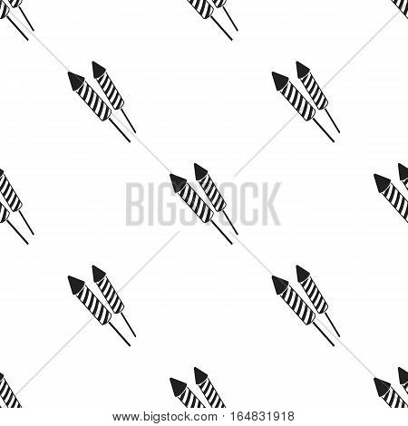 Patriotic fireworks icon in black style isolated on white background. Patriot day pattern vector illustration.