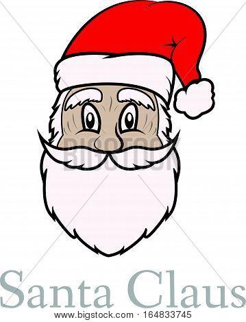Happy New Year. Christmas post card. Vector Santa Claus.