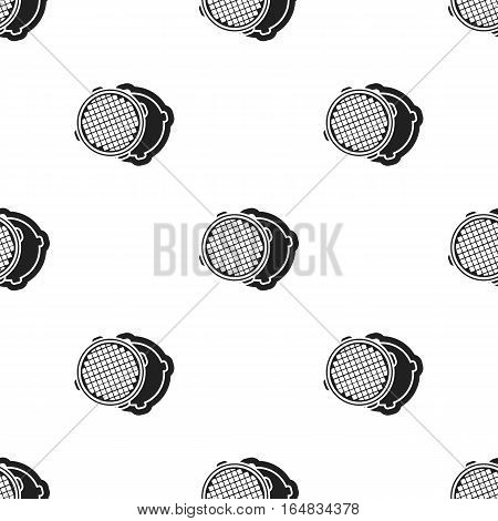 Manhole icon in black style isolated on white background. Plumbing pattern vector illustration.
