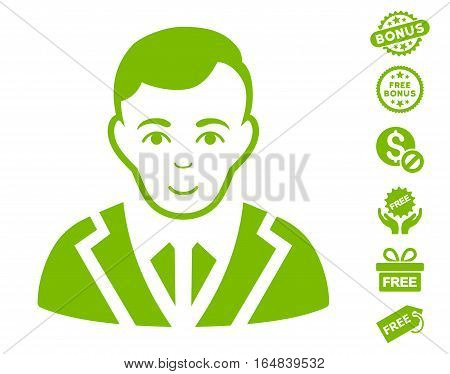 Noble pictograph with free bonus pictograms. Vector illustration style is flat iconic symbols eco green color white background.