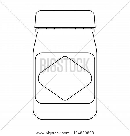 Australian food spread icon in outline design isolated on white background. Australia symbol stock vector illustration.
