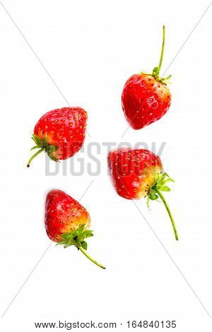Fresh Strawberry Isolated On White Background.
