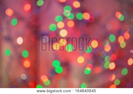 Abstract background with bokeh defocused lights and shadow. City night light blur bokeh. Defocused background