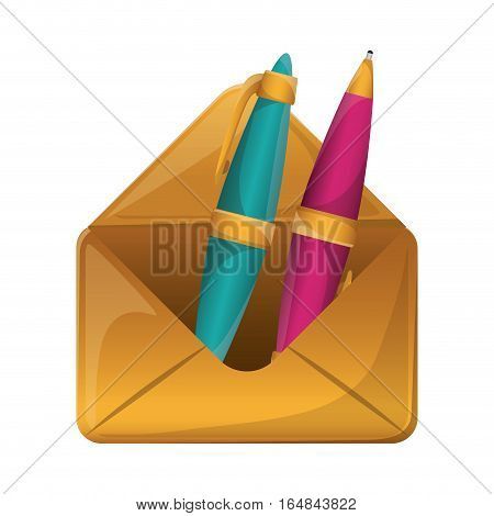 Pen tool icon. Write office object and instrument theme. Isolated design. Vector illustration