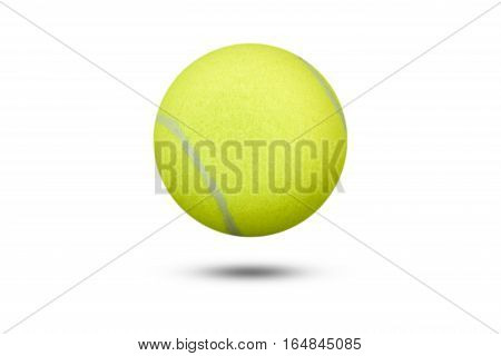 tennis ball on white background. tennis ball isolated. green color tennis ball. single tennis ball. tennis ball from Thailand. tennis ball vivid tone. the new tennis ball. beautiful tennis ball