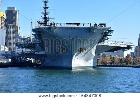 San Diego, California - Usa - December 04, 2016: Navel Base In San Diego