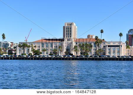 San Diego, California - Usa - December 04, 2016: San Diego City Administration Building