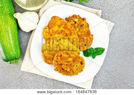 Flapjack Chickpeas In Plate On Granite Table Top