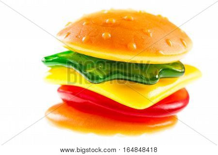 Jelly Burger Isolated