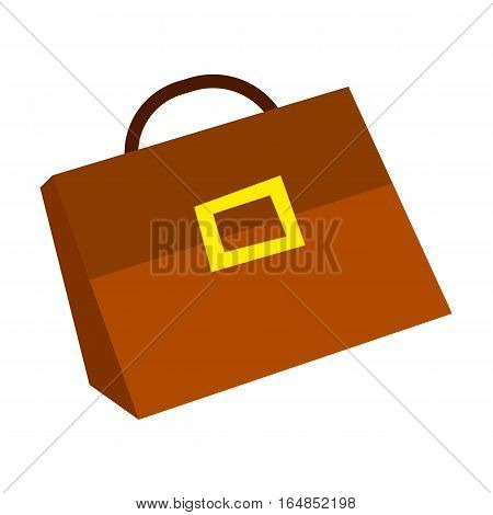 Suitcase icon in flat style, suitcase with money concept., business illustration.