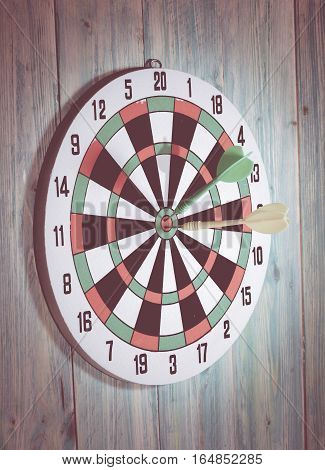Bullseye is a target of business. Dart is an opportunity and Dartboard is the target