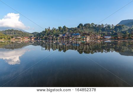 Landscape of Ban Rak Thai village. Mae hong sorn Province Thailand