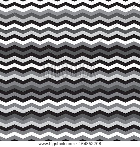 black white and silver shade chevron lines that look like pattern background style on grey background vector illustration image