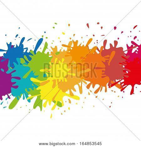 multi color paint splatter icon image vector illustration design