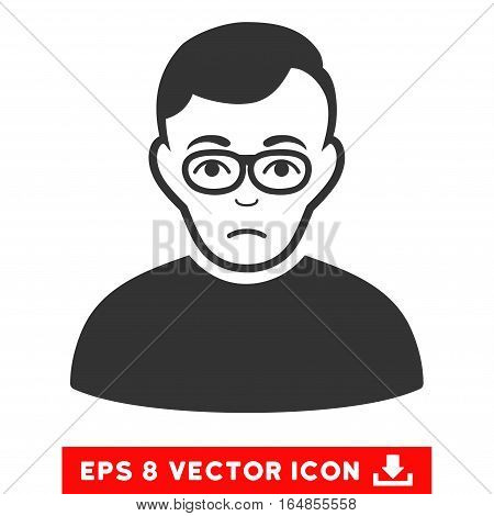 Vector Downer EPS vector pictogram. Illustration style is flat iconic gray symbol on a transparent background.