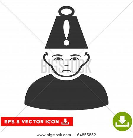 Vector Head Stress EPS vector pictogram. Illustration style is flat iconic gray symbol on a transparent background.