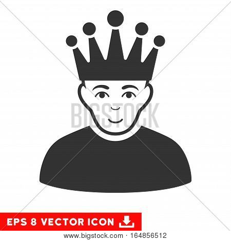 Vector Moderator EPS vector icon. Illustration style is flat iconic gray symbol on a transparent background.