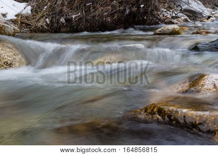 Small Waterfall On The River
