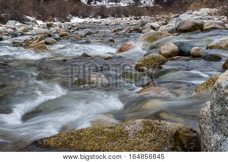 Mountain River Among Stones