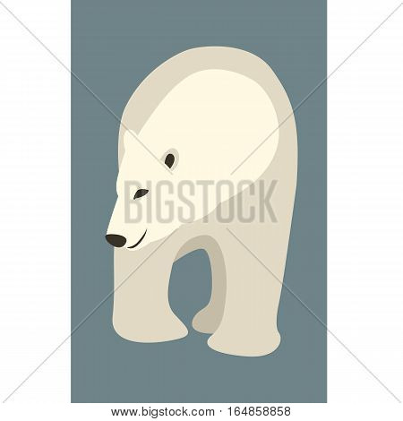 polar bear vector illustration style Flat front