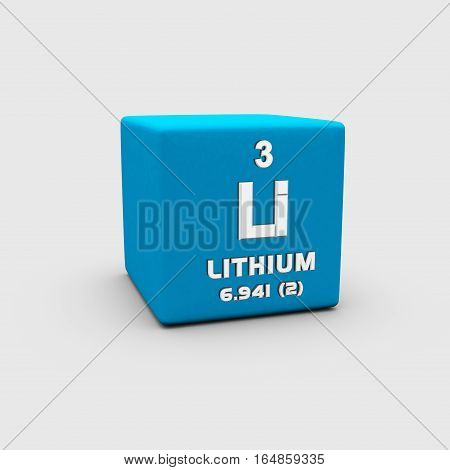 Lithium is a chemical element with symbol Li and atomic number 3.