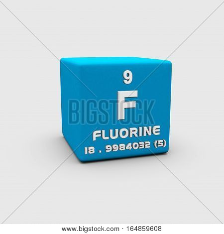 Fluorine is a chemical element with symbol F and atomic number 9.