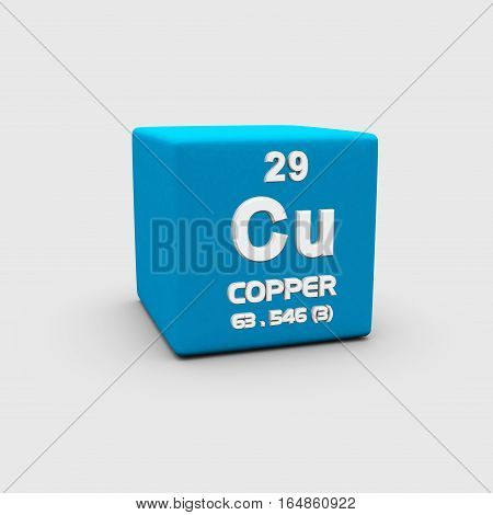 Copper is a chemical element with symbol Cu and atomic number 29.