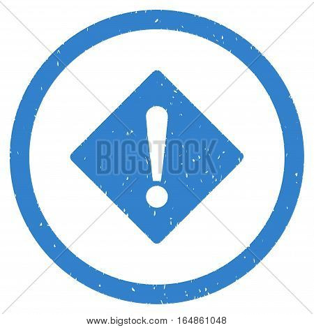 Error Rhombus rubber seal stamp watermark. Icon vector symbol with grunge design and dust texture. Scratched cobalt ink sticker on a white background.