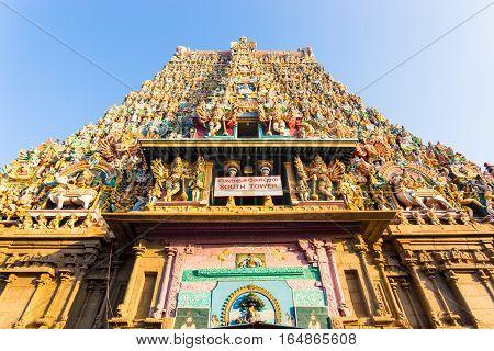 Madurai Meenakshi Amman Temple South Tower Gateway